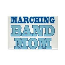 Blue Marching Band Mom Rectangle Magnet