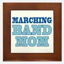 Blue Marching Band Mom Framed Tile