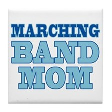 Blue Marching Band Mom Tile Coaster