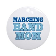 Blue Marching Band Mom Ornament (Round)