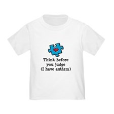 Think Before You Judge Autism Infant Toddler Tee