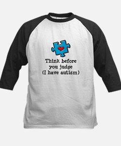 Think Before You Judge Autism Kids Baseball Jersey