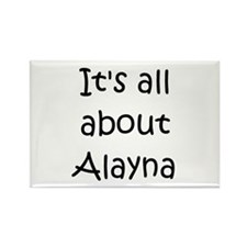 Funny Alayna Rectangle Magnet