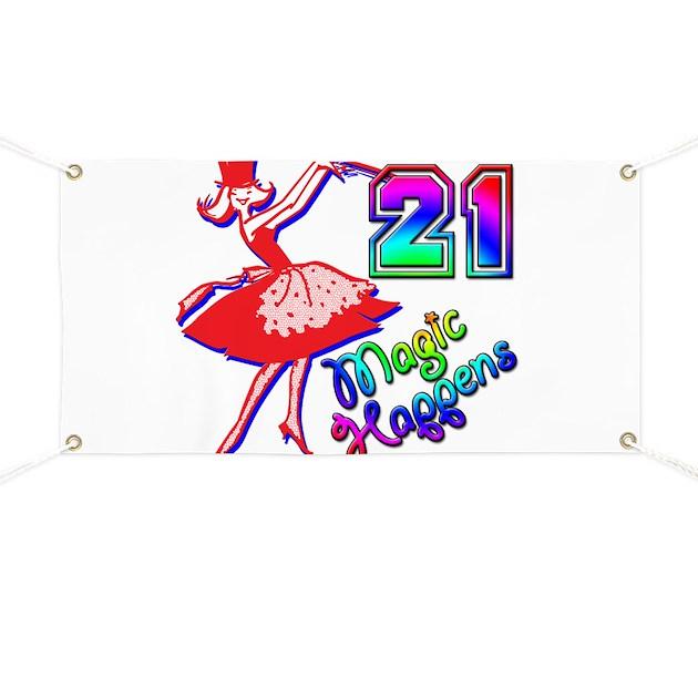 21st Birthday Banner by 30405060