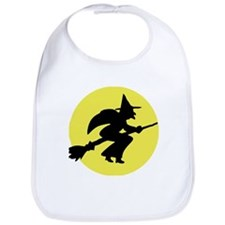 Kids Witch and Moon Halloween Bib