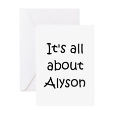 Cool Alyson Greeting Card