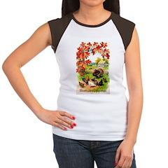 Thanksgiving Greetings Women's Cap Sleeve T-Shirt