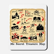 ME SECRET TREASURE MAP Mousepad