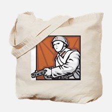 Soviet Soldier Tote Bag