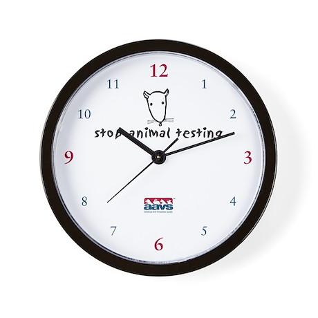 Stop Animal Testing (Clock)