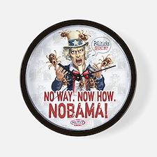 Anti-Obama Nobama Politicks Wall Clock