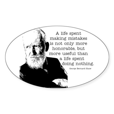 Shaw Quote Oval Sticker
