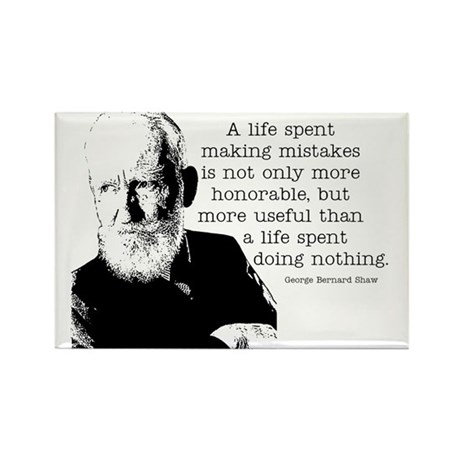 Shaw Quote Rectangle Magnet