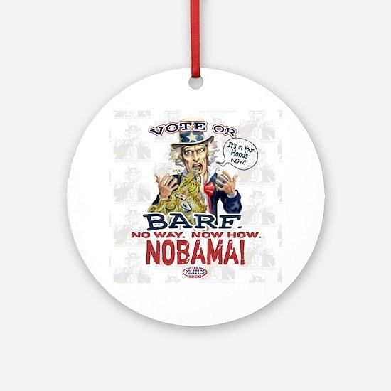 Vote or Barf Anti-Obama Ornament (Round)