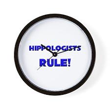Hippologists Rule! Wall Clock