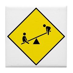 Playground Sign - Tile Coaster