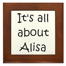 Funny Alisa Framed Tile