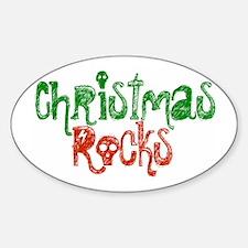 Christmas Rocks Oval Decal