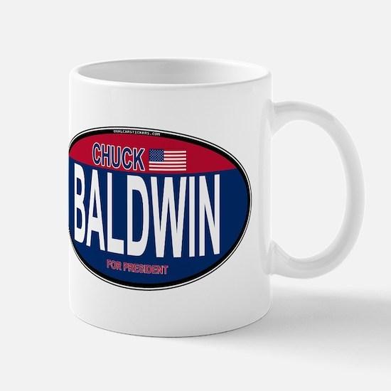 Chuck Baldwin RW&B Oval Mug