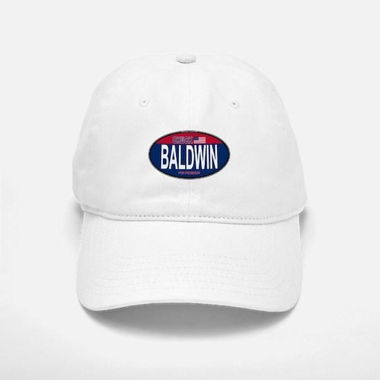 Chuck Baldwin RW&B Oval Baseball Baseball Cap