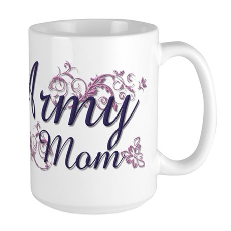 Army Mom - Flower Large Mug