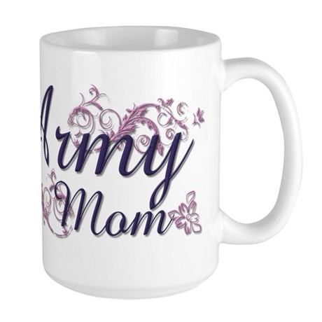 Army Mom - Flower Large Mug