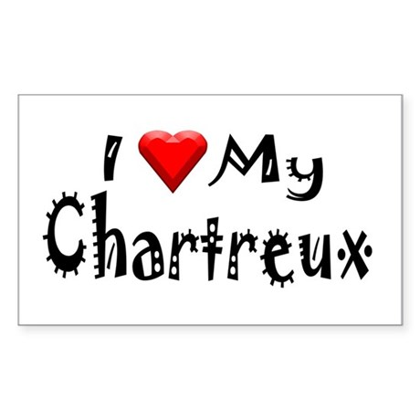 Chartreux Rectangle Sticker