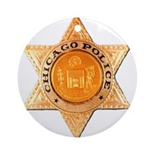 Chicago PD Badge Ornament (Round)
