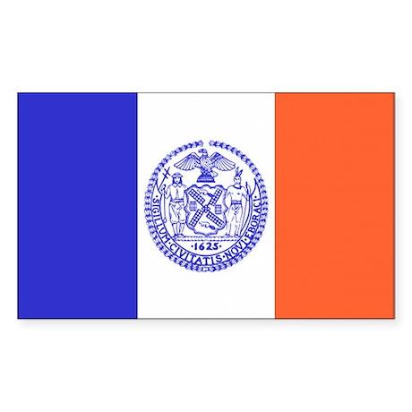 New York City Flag Rectangle Sticker