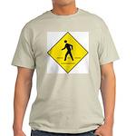 Pedestrian Crosswalk Sign Ash Grey T-Shirt