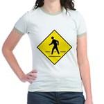Pedestrian Crosswalk Sign Jr. Ringer T-Shirt