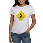 Pedestrian Crosswalk Sign Women's T-Shirt