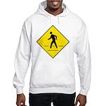 Pedestrian Crosswalk Sign Hooded Sweatshirt