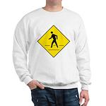 Pedestrian Crosswalk Sign Sweatshirt