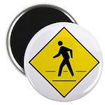 "Pedestrian Crosswalk Sign - 2.25"" Magnet (100 pack"