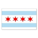 Chicago flag sticker Single