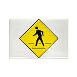 Pedestrian Crosswalk Sign - Rectangle Magnet (100