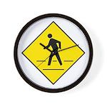 Pedestrian Crosswalk Sign - Wall Clock