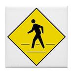 Pedestrian Crosswalk Sign - Tile Coaster