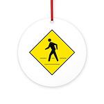 Pedestrian Crosswalk Sign - Keepsake (Round)
