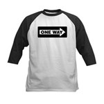 One Way Sign - Right - Kids Baseball Jersey