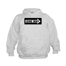 One Way Sign - Right - Hoodie