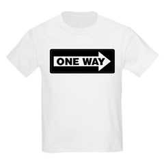 One Way Sign - Right - Kids T-Shirt