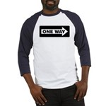 One Way Sign - Right - Baseball Jersey