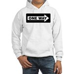 One Way Sign - Right - Hooded Sweatshirt