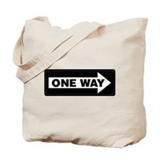 One Way Sign - Right - Tote Bag