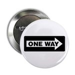 "One Way Sign - Right - 2.25"" Button (100 pack)"
