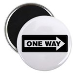 One Way Sign - Right - Magnet