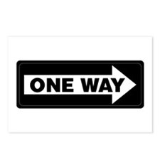 One Way Sign - Right - Postcards (Package of 8)