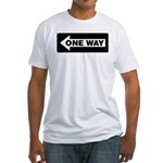 One Way Sign - Left - Fitted T-Shirt